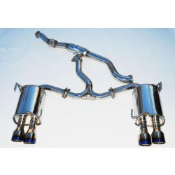 Invidia Q300 Turbo Back Exhaust Quad TI Tips - Subaru WRX MY11-14 Sedan