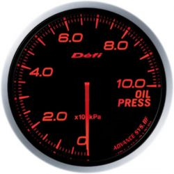 Defi Advance BF Amber Oil Pressure Metric 60mm Gauge