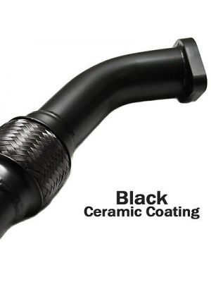 GrimmSpeed Exhaust Manifold Crosspipe w/ Black Ceramic Coating - Subaru WRX MY08-14 / STI MY08-14 / Liberty GT MY05-06