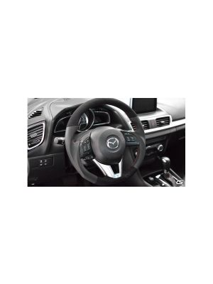 CorkSport Leather/Alcantara Steering Wheel - Mazda 3 MY14-16 / CX-5 MY13-16 / CX-3 MY16+
