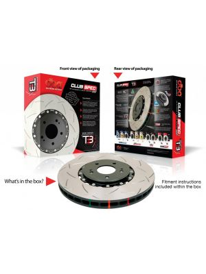 DBA Front Drilled & Slotted 5000 Series 2 Piece Rotor Assembled - Nissan 37Z MY09-12