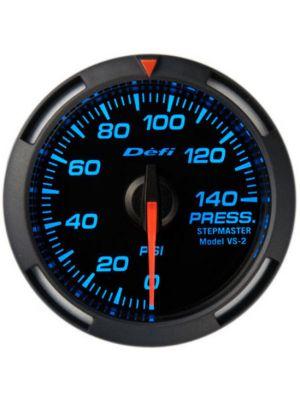 Defi Blue Racer Pressure Gauge Imperial 52mm 140 PSI