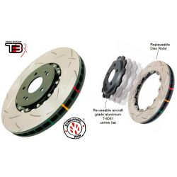 DBA 5000 Series T3 2 Piece Slotted Brake Rotor Front - Ford Focus RS Mk3