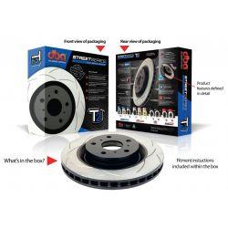 DBA Street Series T2 Slot Front Rotors - Ford Focus RS Mk3