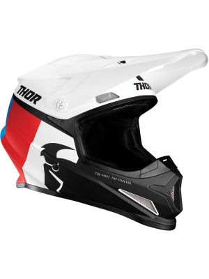 Sector Racer Helmet - White / Red / Blue
