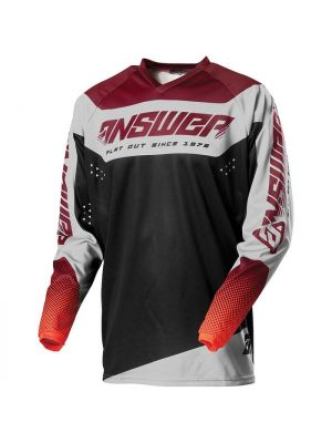 Answer 2021 Charge Youth Syncron Jersey - Berry/Flo Red/Black