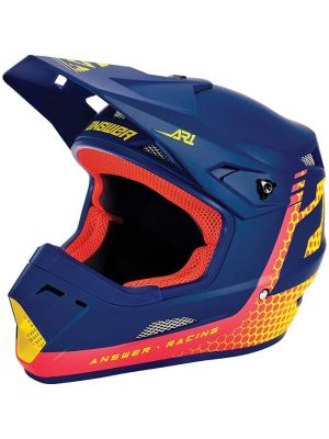 Answer 2021 Charge AR-1 Helmet Air Pink/Pro Yellow/Midnight