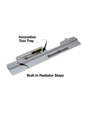 GrimmSpeed Radiator Shroud Texture Silver - Subaru WRX / STI MY01-07