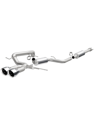 Magnaflow Dual Centre Rear Exit Stainless Cat Back Perf Exhaust - Ford Focus ST MY13-14