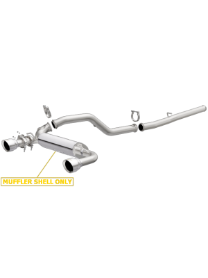 MagnaFlow CatBack Race Series Dual Exit Polished Stainless Exhaust - Ford Focus RS 2.3L MY16+