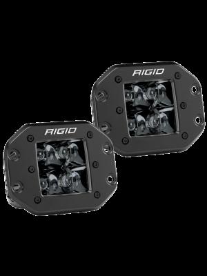 Rigid Industries D2 - Midnight Edition Flush Mount Spot Lights
