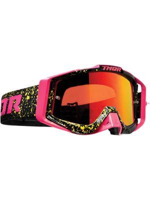 Thor Sniper Pro Splatta Flo Pink / Black Goggles