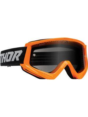 Thor Combat Racer Sand Flo Orange / Gray Goggles