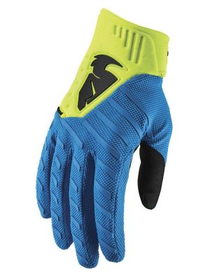 Rebound Gloves - Blue / Acid