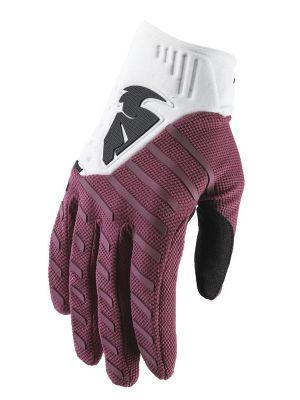 Rebound Gloves - Maroon / White