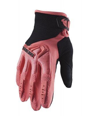 Spectrum Gloves - Coral / Black