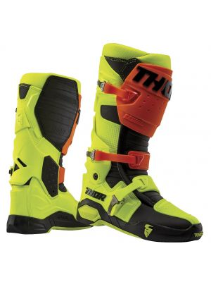 Thor Radial Boots Flo Org/Yellow