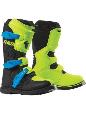 Thor Youth Blitz XP Flo Acid / Black Boots