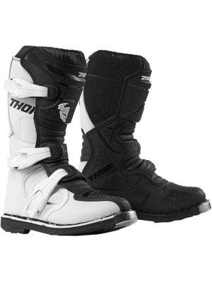 Thor Youth Blitz XP White / Black Boots