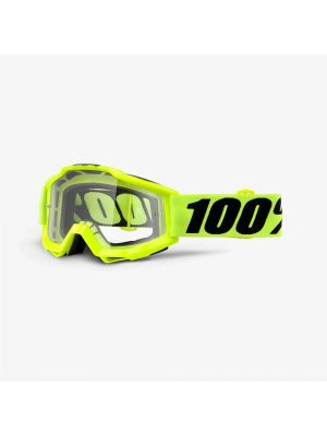 100% Accuri Enduro Goggle Fluo Yellow Clear Dual Lens