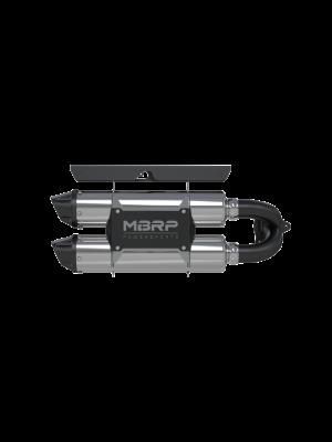 MBRP Dual Slip-on Performance Series Exhaust - Polaris RZR XP Turbo / Turbo S MY16-21