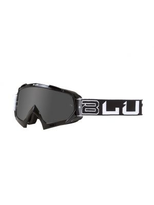 BLUR B-10 Adult Two Face Goggles - Black / White - Silver Lens