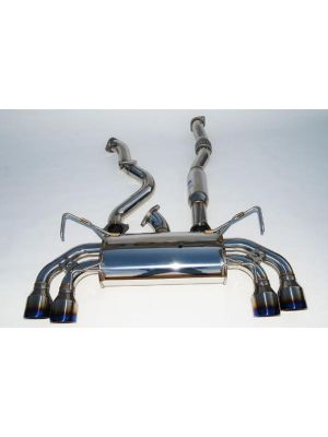 Invidia Q300 Cat Back Exhaust Titanium Tips - Subaru MY11-14 WRX Hatch