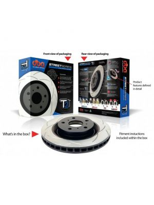 DBA Street Series T2 Slotted Brake Rotor Front - Mazda BT-50 MY10+ / Ford Ranger MY10+