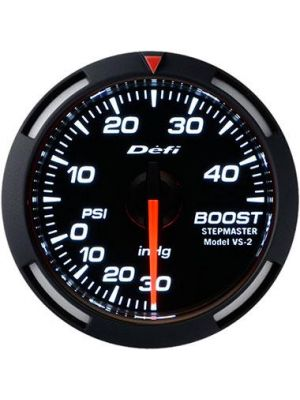 DEFI White Racer Boost Gauge 52mm High Boost Model 45 PSI