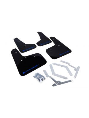 Rally Armor Black Mud Flap w/ Blue Logo - Ford Focus ST MY13+ / Focus RS Mk3 MY16-18