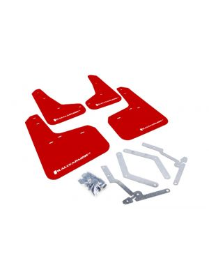 Rally Armor Red Mud Flap w/ White Logo - Ford Focus ST MY13+  / Focus RS Mk3 MY16-18
