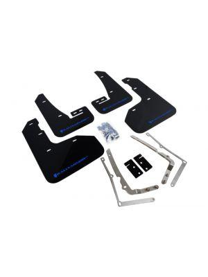 Rally Armor UR Mud Flap Black/Blue Logo - VW Mk7 Golf R MY14-17.5
