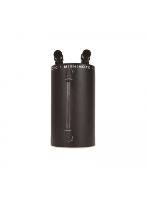 Mishimoto Aluminum Oil Catch Can - Large Wrinkle Black - Universal