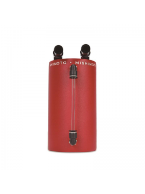 Mishimoto Aluminium Oil Catch Can - Large Wrinkle Red - Universal