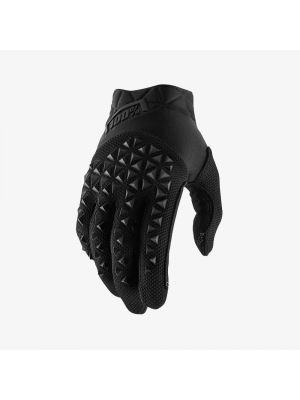 100% Airmatic Black Gloves