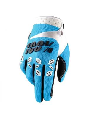 100% Airmatic Blue Gloves