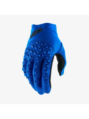 100% Airmatic Blue/Black Gloves