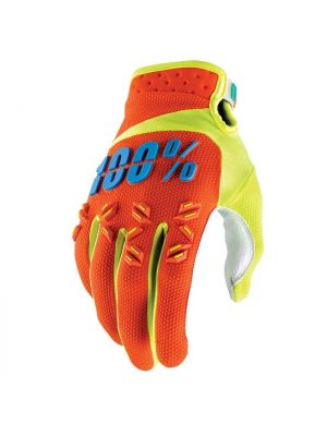 100% Airmatic Orange Gloves