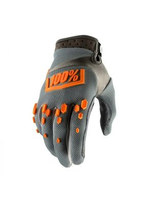 100% Airmatic Grey Gloves