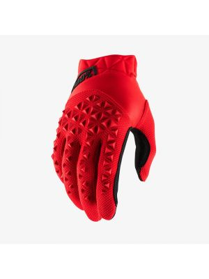 100% Airmatic Black/Red Gloves - Youth