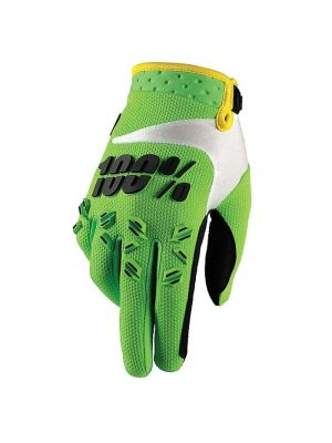 100% Airmatic Lime Gloves