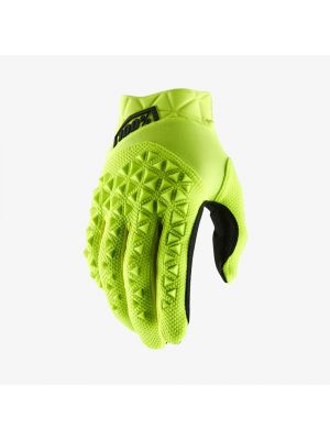 100% Airmatic Fluo Yellow/Black Gloves - Youth