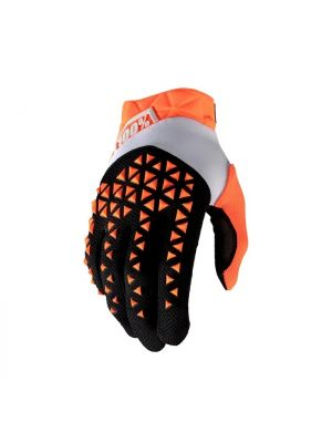 100% Airmatic Orange/Black Gloves