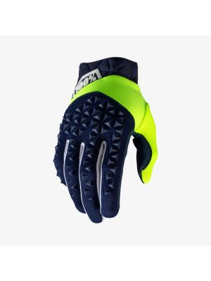 100% Airmatic Fluo Yellow/Navy Gloves