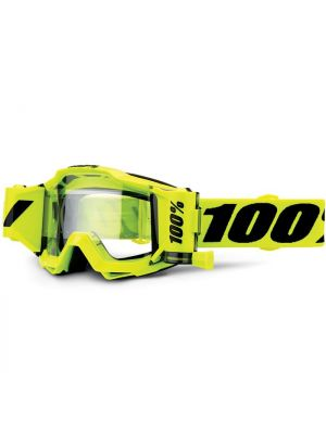 100% Accuri Forecast 45mm Fluo Yellow with Clear Lens