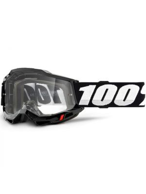 100% Accuri2 Goggle Black Clear Lens