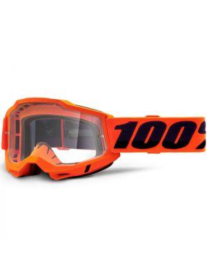 100% Accuri2 Goggle Orange Clear Lens
