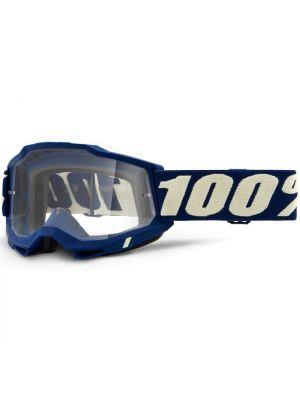 100% Accuri2 Goggle Deepmarine Clear Lens