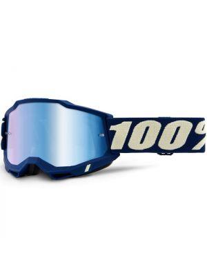 100% Accuri2 Goggle Deepmarine Mirror Blue Lens