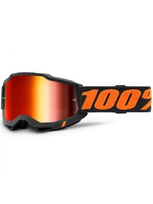 100% Accuri2 Goggle Chicago Mirror Red Lens